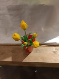 Tulpen bos geel