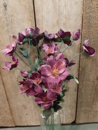 Paars geglitter bloem