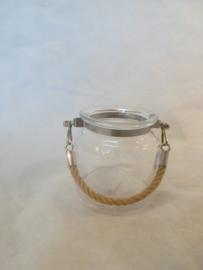 Vaasje met touw (klein) ○8cm