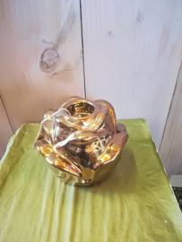 Waxinelichtje houder in vorm van een roos