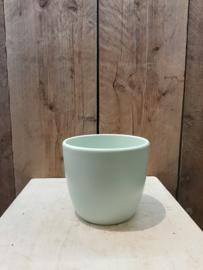 Pot mint groen  middel ○ 12 cm