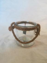 Vaasje met touw (middel) ○ 10cm