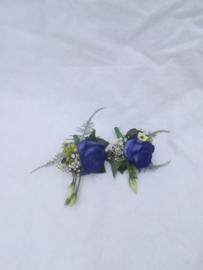 Corsage blauw getuige/gasten