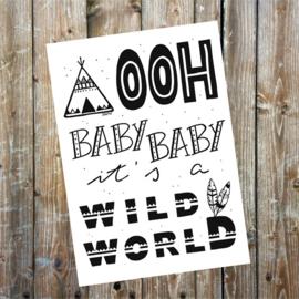 """Kaart """"Wild world"""""""