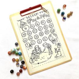Kleurplaat Aftelkalender Winkel