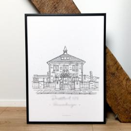Huisportret Huisillustratie