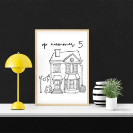 Huisportret Cadeau Poster
