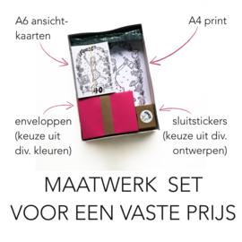 Maatwerk Kaarten-Set (4-delig)