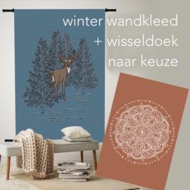 Wandkleed Winterbos + Wisseldoek naar keuze