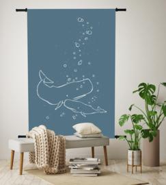 Wandkleed Walvissen