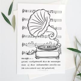 Poster Muziek met lijst