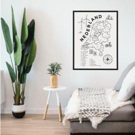 Poster NL Kaart met lijst