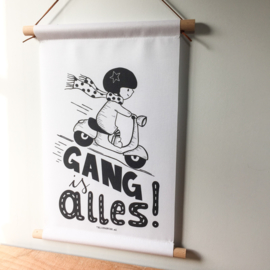 "Textielposter ""Gang is alles"""