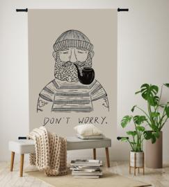 Wandkleed Don't Worry