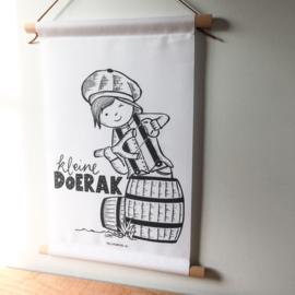 """Textielposter """"Kleine Doerak"""""""