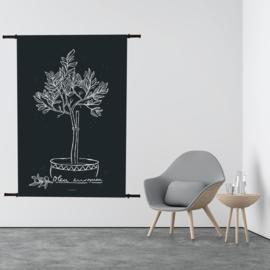 Wandkleed Olijfboom