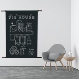 Wandkleed Vin Rouge