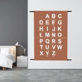 Wandkleed ABC met Tussen de Lijntjes