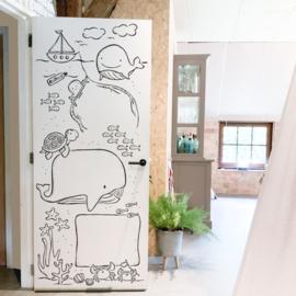 Deursticker Whiteboard