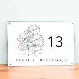 Huisnaambord met Illustratie