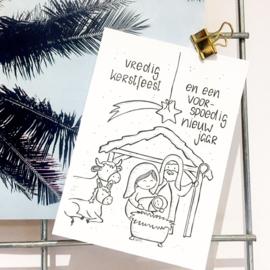 Persoonlijke Kerstkaart Stalletje