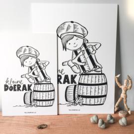 "Plaat print ""Kleine Doerak"""