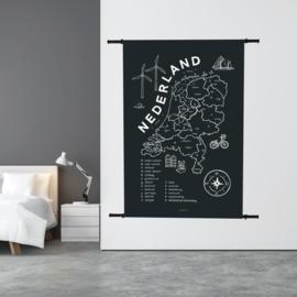 Wandkleed NL Kaart