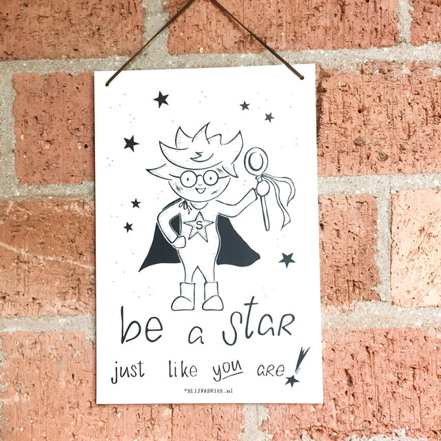 """Poster """"Be a star"""""""