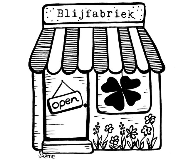 Blijfabriek winkel illustratie