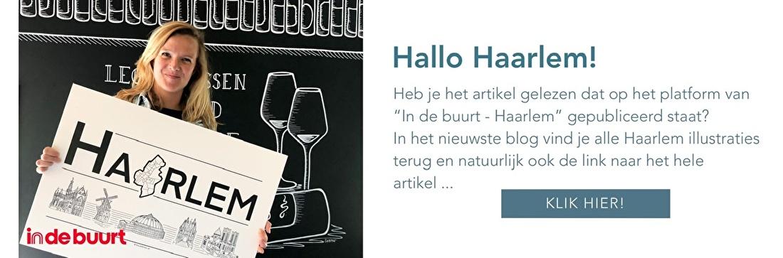 Illustrator Haarlem In de buurt Muurtekening Wandkleed Poster Ontwerp op Maat  Stadsposter