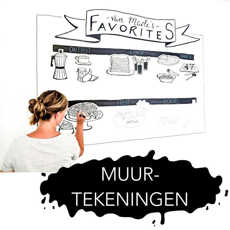 Muurtekening | Muurontwerp | Muurillustratie | Lijntekening | XL-tekening