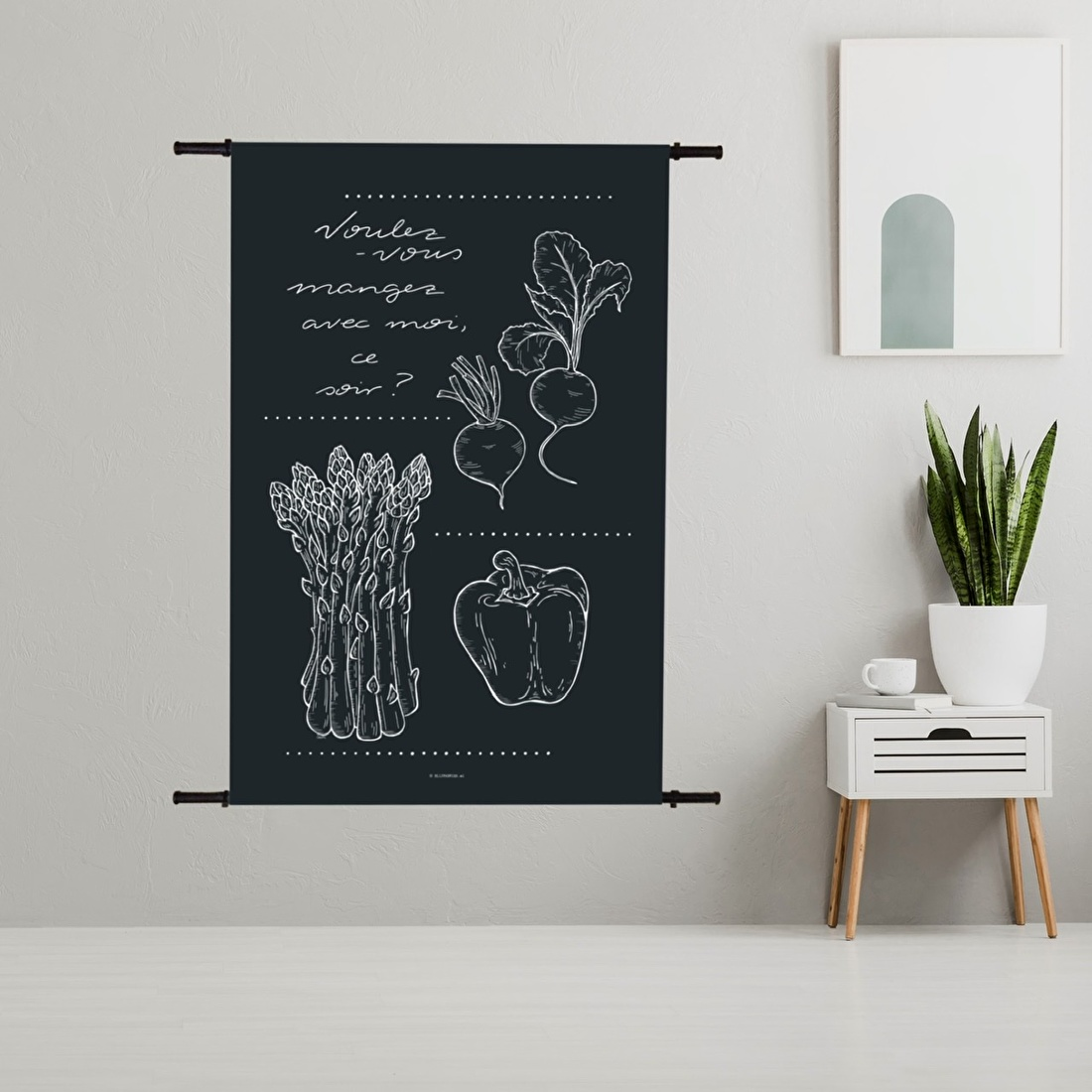 Kies formaat afmeting wandkleed wanddecoratie