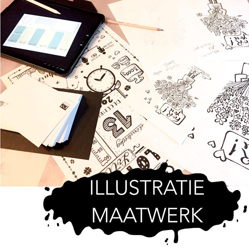 Illustratieontwerp | Illustratiedesign | Ontwerp op maat | Kaartjes op maat