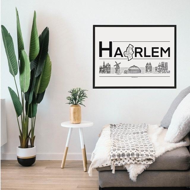 Poster Haarlem Stadsposter Citymap