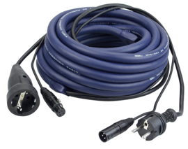 DAP-Audio FP05 - Schuko/XLR M - Schuko/XLR F 15m