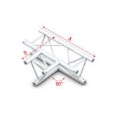 Showtec 90° 3-way horizontal
