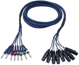 DAP-Audio FL61 - 8 XLR/F 3 p. > 8 Jack mono 3m