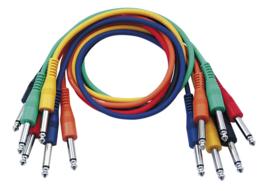 DAP-Audio FL11 - 6 coloured unbal. patch 30cm