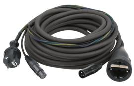 DAP-Audio FP09 - Schuko/XLR F - Schuko/XLR M 10m