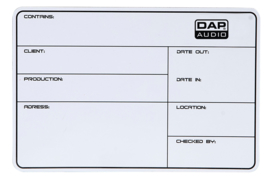 DAP-Audio flightcase label