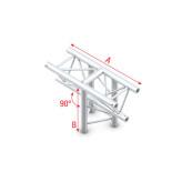 Showtec T-Cross vertical 3-way, apex down