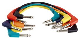 DAP-Audio FL41 - 6 coloured unbal. patch 90° > 90° 90cm