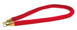 Showtec Velvet Rope Gold Hook rood