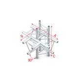 Showtec T-Cross + up/down 5-way