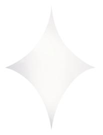 Showtec Stretch Shape Diamond 125 x 125 cm wit