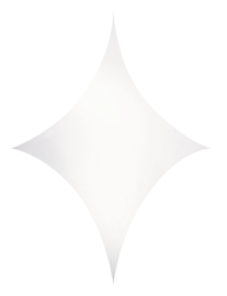 Showtec Stretch Shape Diamond 185 x 125 cm wit