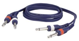 DAP-Audio FL22 - 2 mono Jack L/R > 2 mono Jack L/R 1,5m