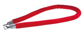 Showtec Velvet Rope Silver Hook rood