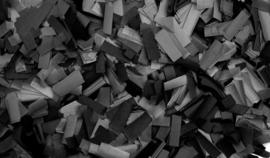 Showtec Show Confetti Rectangle 55 x 17mm zwart 1 kg