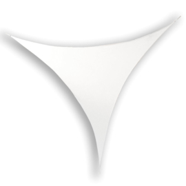 Showtec Stretch Shape Triangle 375 x 250 cm wit